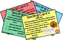 Spelling Strategy Cards
